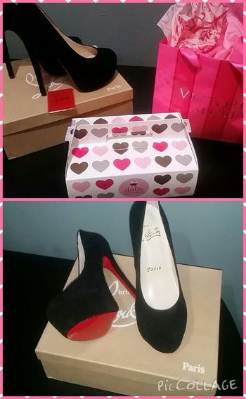 One lucky girl ?❤? RedBottoms  ChristianLouboutins vday