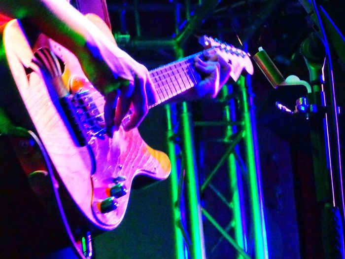 Millenial Pink Women Illuminated Human Hand Guitar Player Colorful Place Of Heart Live For The Story :-):-):-)
