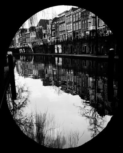 Oudegracht Utrecht , Netherlands Negative Space Canal Streetphoto_bw WalkSee.co