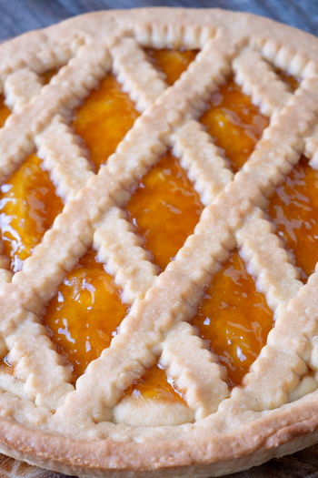 Tart with peach jam Baked Close-up Dessert Focus On Foreground Food Food And Drink Freshness High Angle View Indoors  Indulgence No People Pie Ready-to-eat Shape Snack Still Life Sweet Sweet Food Tart - Dessert Temptation Unhealthy Eating