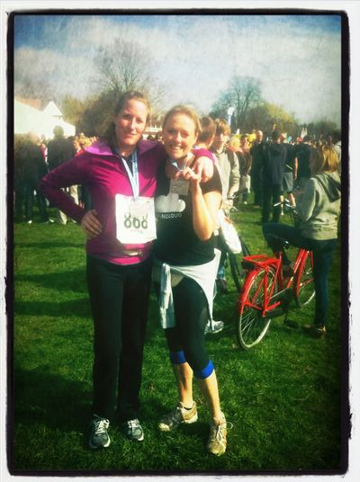 We made it! #cambridgehalfmarathon at Midsummer Common We Made It! #cambridgehalfmarathon