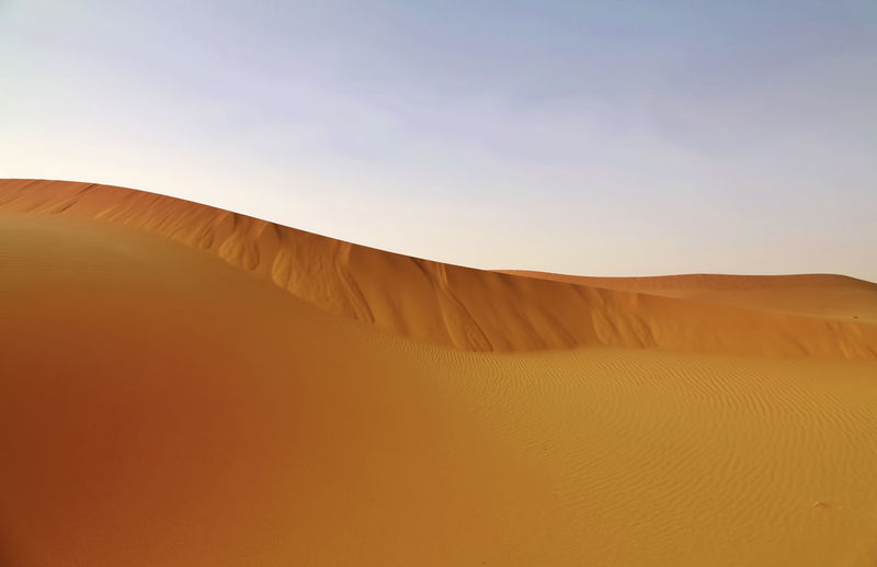 Golden sand Arid Climate Atmospheric Barren Beauty In Nature Climate Day Desert Environment Land Landscape Nature No People Non-urban Scene Outdoors Physical Geography Remote Sand Sand Dune Scenics - Nature Sky Tranquil Scene Tranquility
