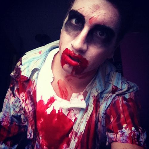 Zombie Scary Dude Blood Horror