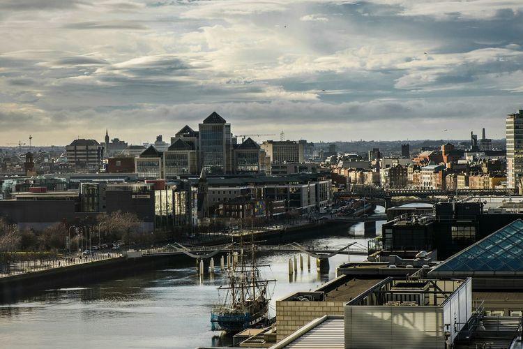 Dublin Cityscapes River Ship Traveling