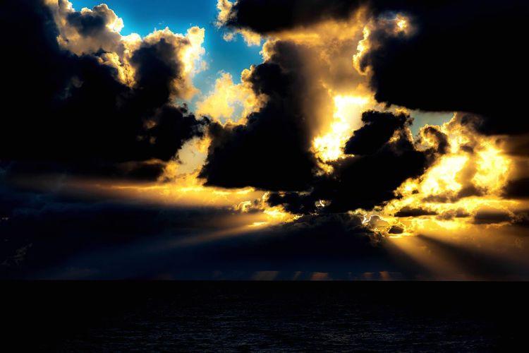 Sunset Clouds Ocean Storm Storm Clouds
