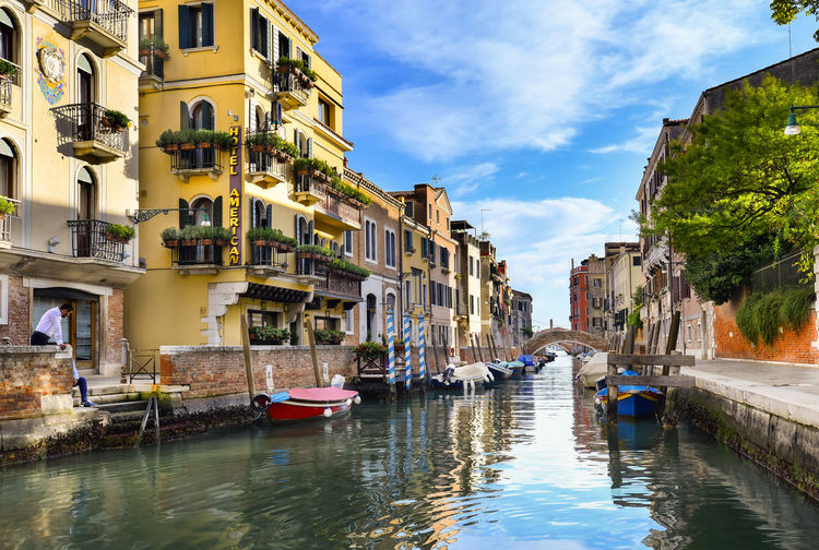 Somewhere in Venice Cityscape HDR Italia Nikon Reflection Architecture Boats Building Exterior Built Structure Canal City Day Nautical Vessel No People Old Buildings Outdoors Residential Building Sky Transportation Venicelife Venicelove Water Waterfront