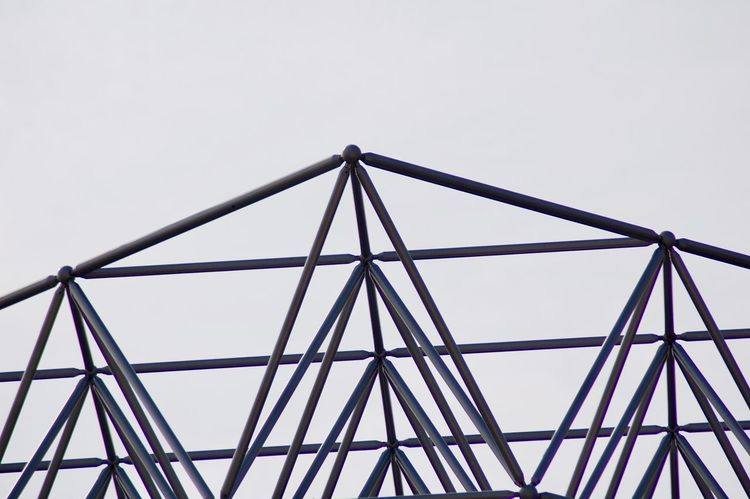 Architecture Built Structure Connection Day Low Angle View Metal No People Outdoors Pipe Roof Rooftop Sky Tube Tubes
