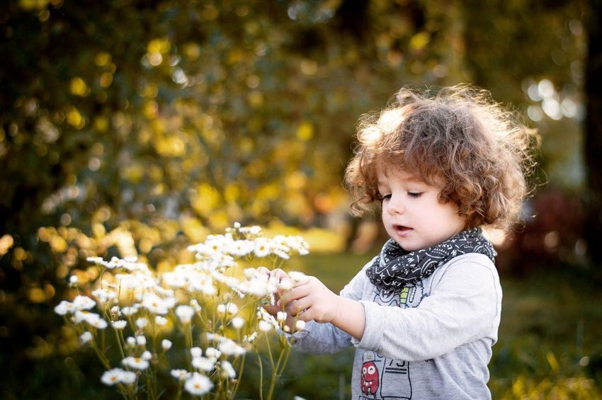 Marcel EyeEm Selects Water Child Childhood Flower Smiling Curly Hair Warm Clothing Happiness Cute Baby