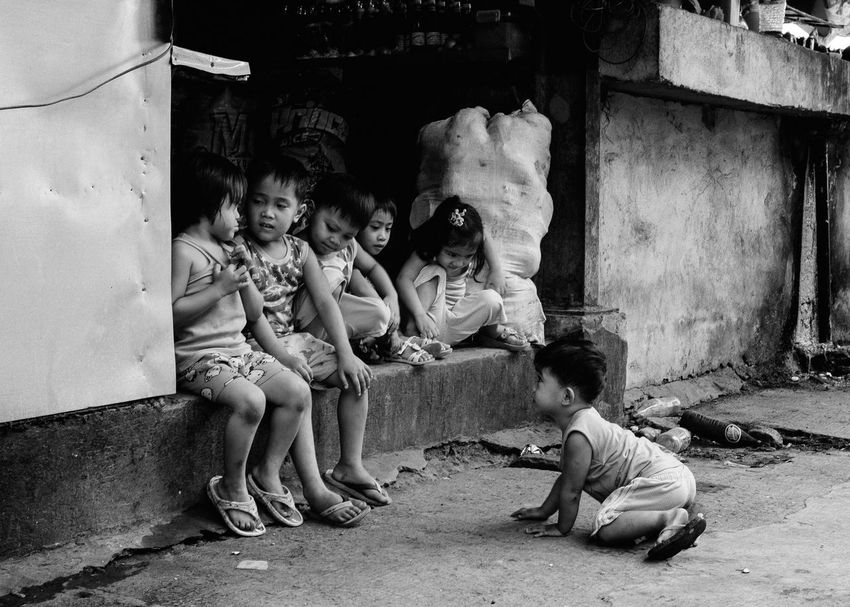 Streetphotography Childhood People Eyeem Philippines Street Street Life Everybodystreet The Human Condition B&w Street Photography B&w Blackandwhite Real People Street Photography Philippines EyeEm Lucena Children The Photojournalist - 2017 EyeEm Awards The Street Photographer - 2017 EyeEm Awards BYOPaper! Streetphoto_bw Child Black And White Friday