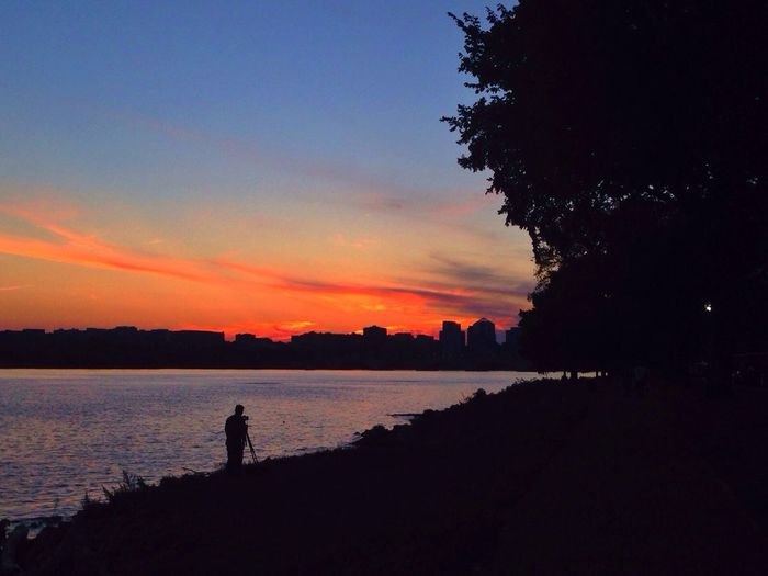 All lined up Photographer Sunset Sunset_collection River The Human Condition
