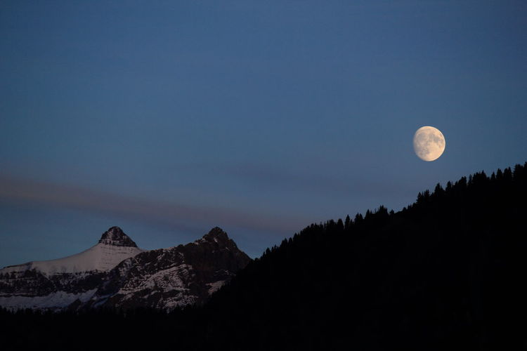 Beauty In Nature Moon Mountain Nature Night No People Outdoors Sky Tranquil Scene Tranquility