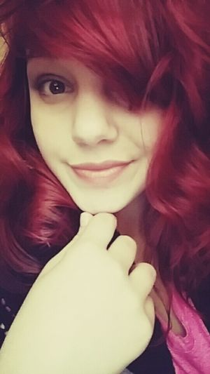 Eating soup Lips Smile Messy Hair Girl Selfie Cute Taking Photos Check This Out Red Hair Brown Eyes!