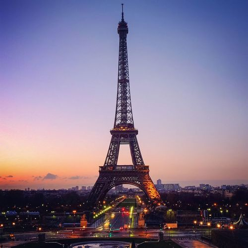 Architectural Feature Architecture Built Structure Capital Cities  City City Life Cityscape Culture Development Eiffel Tower Eiffel Tower Engineering Famous Place Illuminated International Landmark No People Outdoors Paris Sky Tall Tall - High Tourism Tower Travel Destinations Vignette