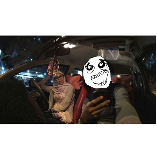 Selfie ✌ with Go Pro in the Car happy time