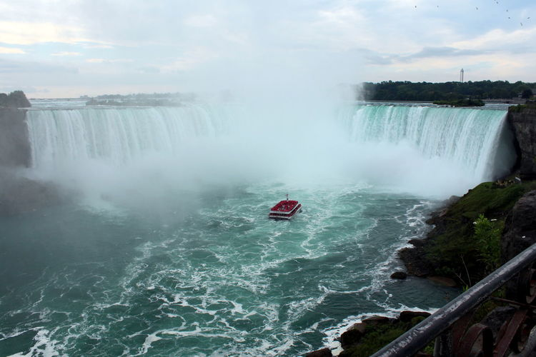 Niagara Beauty In Nature Canada Motion Nature Power In Nature Sky Travel Destinations Water Waterfall Adventures In The City
