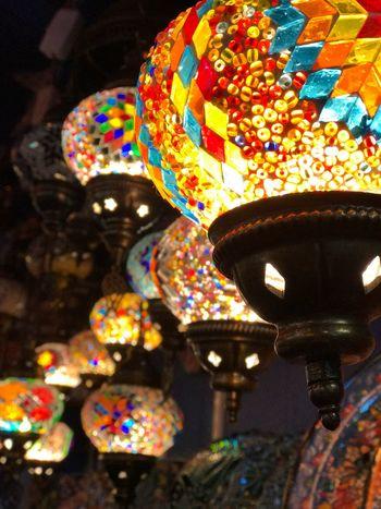 London Multi Colored Lights Illuminated Mosaic