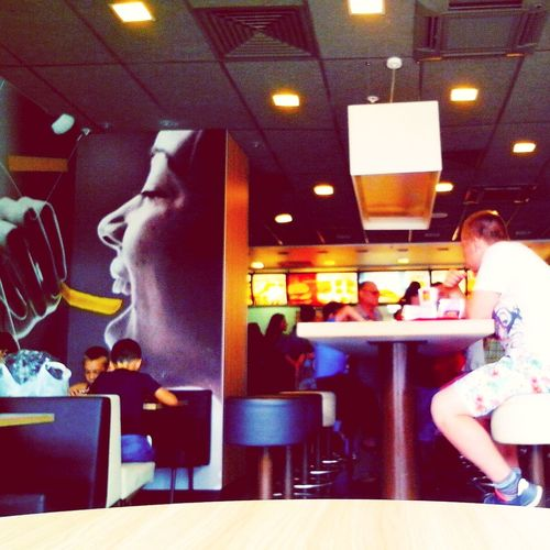 McDonald's Eating Lunch After Swimming