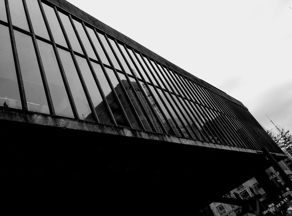 Low Angle View Architecture Built Structure Day No People Sky Outdoors City Close-up Travel Destinations Bike Tour Smartphone Photography The Week On EyeEm EyeEm Best Shots Arts Culture And Entertainment Paulista Avenue Building Exterior Museum Of Art Museum Red Monochrome Photography Black & White Architecture Masp Black And White Friday