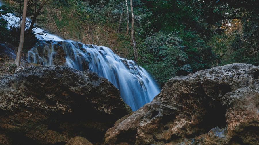 Beautiful lapopu waterfall on sumba island, indonesia