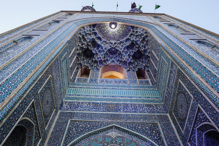 Travel Destinations Travel Photography Iran Shia Community Nomadic Zoroastrian Islamic Architecture Architecture Built Structure Low Angle View Religion Place Of Worship Belief Building Exterior Spirituality Building Arch Tourism Travel Pattern The Past History Ceiling Ornate Architecture And Art