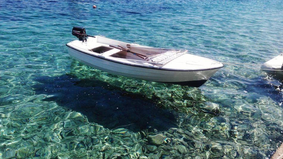 Clear water Croatia ♡ Hvar Island Sunny Day Adriatic Sea Ocean Clear Water Blue Crystal Clear Waters Enjoying Life First Eyeem Photo Istria Relaxing Boat