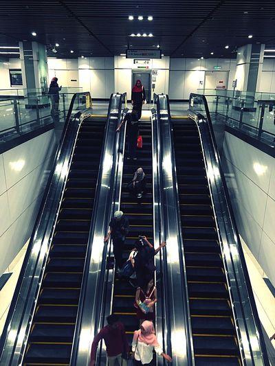 MRT Kuala Lumpur Escalator