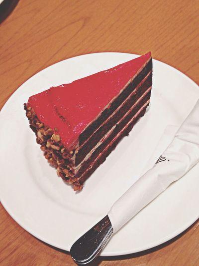 Redvelvet Cake Peanut Delicious