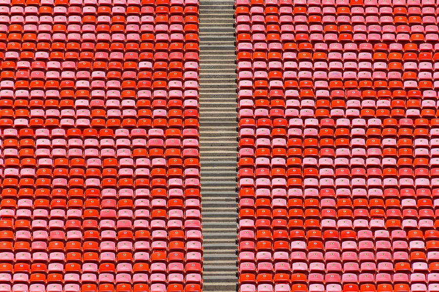 Red Stadium Abstract Architecture Backgrounds Built Structure Close-up Day Design Full Frame Multi Colored No People Outdoors Pattern Red Repetition Roof Tile Sunlight Textile Textured  Wall The Architect - 2018 EyeEm Awards #urbanana: The Urban Playground