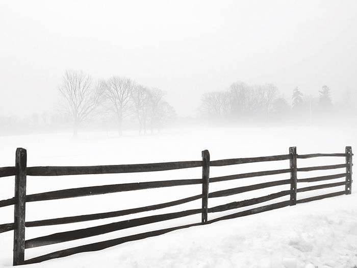 Princeton New Jersey Nj Snow Blackandwhite Fence Minimalism Winter