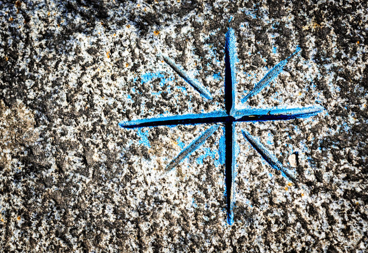 Beach Blue Close-up Day Floor Markings Nature No People Outdoors Star Symbol Symmetrical Textured