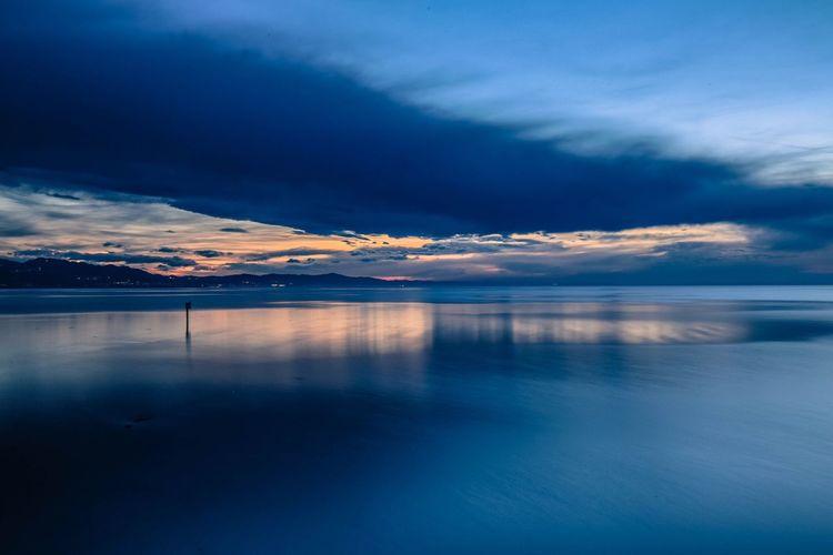 Scenic seascape in the evening