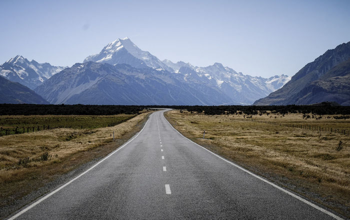 Endless FUJIFILM X-T1 Into The Wild Mount Cook NZ New Life New Zealand Scenery Perspective Road To Nowhere Windy Road Adventure Asphalt Endlessness Fast Forward Intothewild Long Road Mount Cook Mount Cook National Park Mountain Range New Zealand Open Range Road Road Trip The Way Forward Unknown Journey
