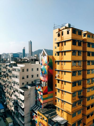 bear on the rooftop. City Building Exterior Cityscape Outdoors Architecture Day Sky Street Cityscapes Street Photography Streetphotography Maximalist Residensity HongKong Hong Kong Cityscape Chasinglight Urbanphotography Discoverhongkong Skyscraper Architecture Urbanature Travel Destinations Blue