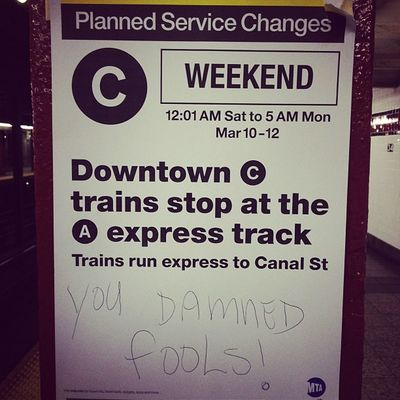 You Damned Fools #PennStation #nyc #gottalovenewyorkers Pennstation Gottalovenewyorkers NYC