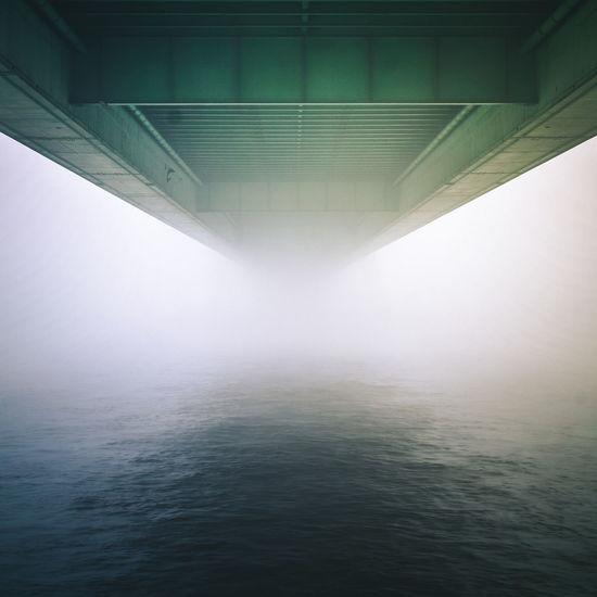 L&SB Bridge Built Structure Cologne DeutzerBrücke Fog Köln Learn & Shoot: Balancing Elements Misty Reflection Rhein Water