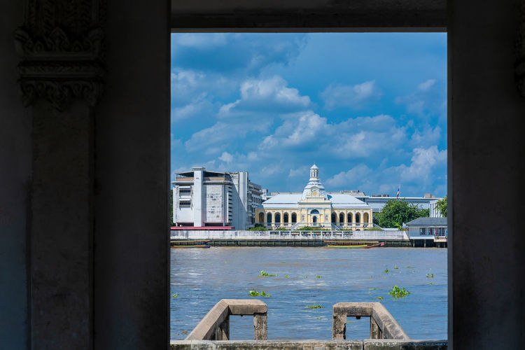 Chaophya River Architecture Built Structure Cloud - Sky Water Travel Destinations Windows River Chaophya
