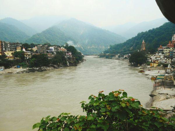 Rishikesh India Ganga River Mountains Nature