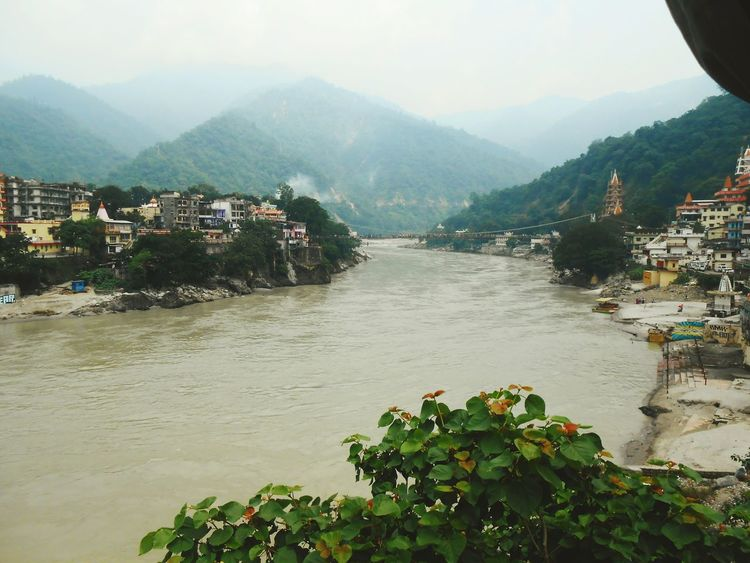Rishikesh India Ganga River Mountains Nature