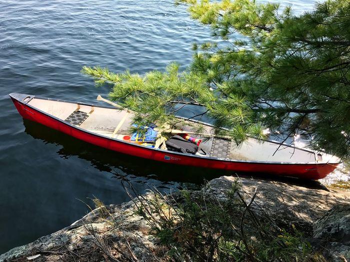 Canoe fun Water Boat Day Nature No People Outdoors Sun Camping Canada Ontario Lake Fall Weekend Activities