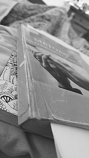 Blackandwhite Black And White Black & White Books Bookstagram Social Work Two Hands 📚 Colorful Book 🏊 👙 🌞 New Book Old Book Day No People Backgrounds Outdoors Close-up