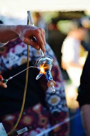 Glass Art Flame Firework - Man Made Object Firework Heat Fire Quality Igniting Lit