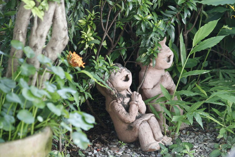 But The Garden Clay Doll Doll Clay Pots In A Garden Clay Dolls Dolls Gardening Equipment Outdoors Smile