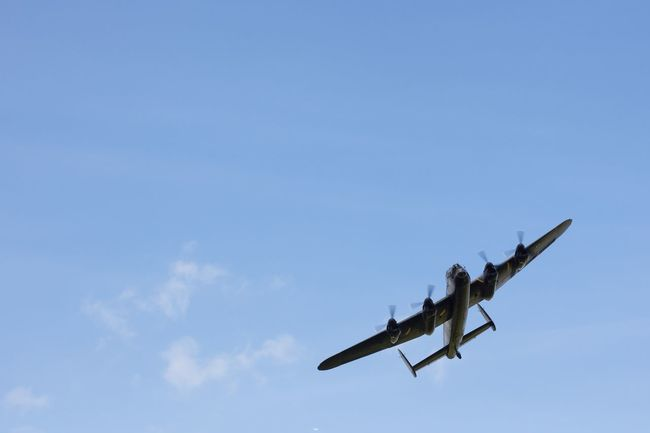 Aerobatics Aerospace Industry Air Force Air Vehicle Airplane Airshow Avro Lancaster BBMF Bomber Day Flying Lancaster Bomber Low Angle View Military Military Airplane No People Outdoors Sky Stunt