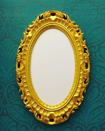 Mirror Mirror On The Wall Frame Gold Frame Wall Green Green Green!  Louise