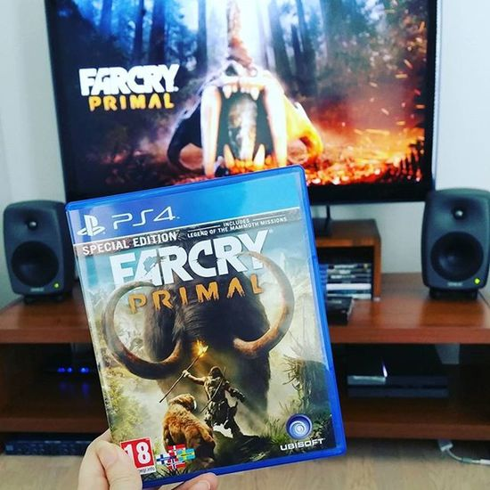 Okay, i will try this 😂 Farcry Farcryprimal Specialedition Gameday Gamer Gamergirl PS4 Console Ubisoft Almostweekend  Genelec Sound Home