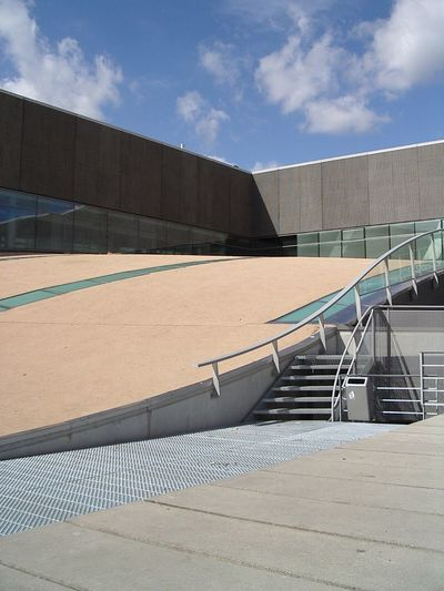 CODA Museum, Roof. 2005. Built Structure Architecture Railing Day Sky Cloud - Sky Steps And Staircases Modern No People Outdoors Digital Camera Apeldoorn Coda Museum