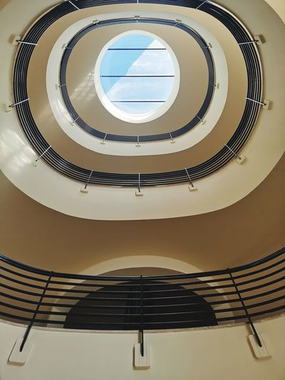 Steps And Staircases Escalator Fire Escape Skylight Cupola Railing Bannister Footbridge Spiral Stairs Stairway Stairs Staircase Hand Rail Steps Spiral Directly Below Geometric Shape