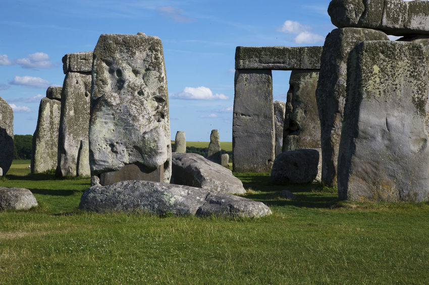 United Kingdom Ancient Ancient Civilization Ancient History Archaeology Architecture Built Structure Day Field Grass History Land Nature No People Old Ruin Outdoors Plant Sky Solid Stone Material Stonehenge The Past Tourism Travel Travel Destinations
