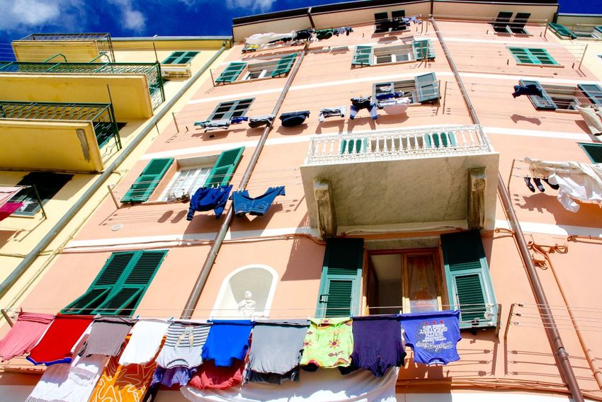 #cinqueterre #italy #riomaggiore Been There. Architecture Balcony Building Exterior Day Low Angle View No People Outdoors
