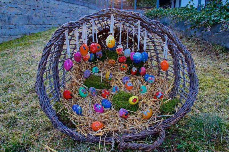 Easter Tradition Art Basket Culture Day Easter Eegs Grass Multi Colored Nature No People Outdoors